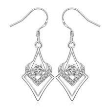 silver crystal Earring jewelry wedding Solid stone cute women lady gift hot sale