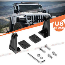 Pair Side Mounting Bracket Universal Work LED Light Bar For Jeep Truck Truck