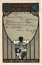 AK 1910 JENA KÜNSTLERKARTE STUDENTIKA NWV BURSCHENSCHAFT VERBINDUNG