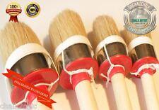 #hq 4 Tiza Pintura & Cera Pure Bristle Set 4 Shabby Chic Mueble Cepillos Redondos