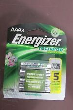 4/pack AAA Energizer Rechargeable NiMH Batteries AAA4 Recharge
