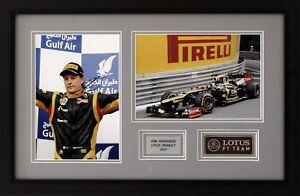 Kimi Raikkonen Renault F1 Signed A4 in framed set #2
