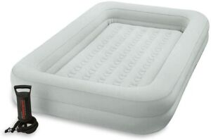 Intex 66810EP Kidz Travel Air Bed, With Hand Pump