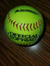 """New Academy Raised Seem 11"""" Official Leather Fastpitch Softball Yslaabb2037"""
