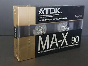 NEW OLD STOCK SEALED BLANK CASSETTE TDK MA-X 90 min