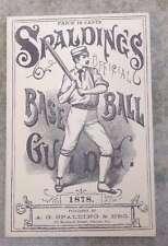 SPALDING MLB BASEBALL GUIDE - 1878 -  HORTON REPRINT - MINT