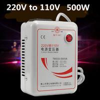 AC 220v To 110v 50/60Hz 500w Step Down Voltage Converter Transformer Converts