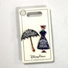 Hong Kong Disneyland HKDL Mary Poppins Pin Set of 2 Disney Pin