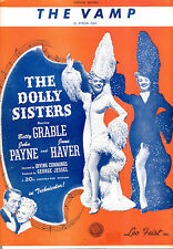 """DOLLY SISTERS Sheet Music """"The Vamp"""" Betty Grable June Haver"""