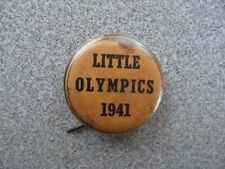 >Old 1941 **Little Olympics** PINBACK BUTTON Vintage Pin
