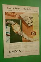1954 Original Advertising' Watch Omega Seamaster Calendar Every Date IN Deligh