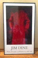 Jim Dine 24x40 Print CARDINAL 1976 Walker Art Center Exhibition Poster 1984