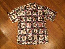 Rare Limited Edit Reyn Spooner 2000 Mele Kalikimaka Hawaiian Shirt Christmas L