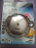 Saitek mini UFO usb hub silver 4 ports new