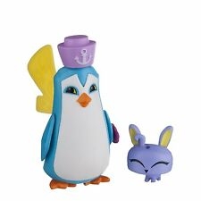 Animal Jam Sir Penguin & Pet Bunny Mini Figure Pack + Exclusive Secret Code New