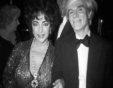 Andy Warhol & Elizabeth Taylor At Studio 54 Print 11 x 14   #3955