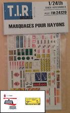 DECALQUES, DECALS, MARQUAGES POUR HAYON POUR CAMION, 1/24eme, ACCESSOIRES