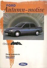 Ford Orion Quartz II 2 Limited Special Edition Autumn 1991 Leaflet Brochure