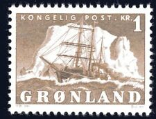 Greenland 1950 1 Krone Ship Gustav Holm Mint Unhinged