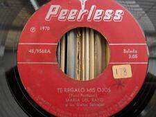 Maria Del Rayo Y Los Gatos Salvajes - Te Regalo Mis Ojos 45 Latin Soft Psych