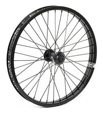 SHADOW CONSPIRACY SYMBOL FRONT WHEEL INCLUDES 2 HUB GUARDS BMX BIKE BLACK NEW