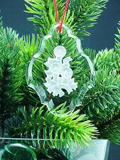 """Weihnachtspendel """"Kerzen"""" aus Kristallglas mit Kordel rot. UG 1823"""