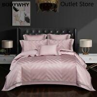 Luxury Silk Cotton Jacquard Bedding Set Quilt Cover Sets Bed Sheet 4/6/7Pcs