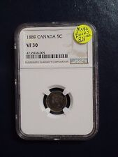 1889 Canada Five Cents NGC VF30 5C SILVER COIN PRICED TO SELL NOW!