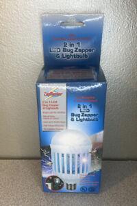 ZapMaster LED Bug Zapper & Light Bulb 9W 60W 110V 900 Lumens 900V Zapper Grid