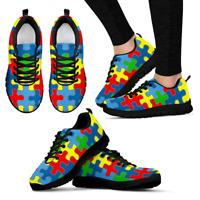 Autism Awareness - Shoes - Black Women's Sneakers