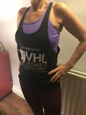 VHL UK/Ireland VHL Disease Charity Navy Sports Cotton Muscle Vest UNISEX