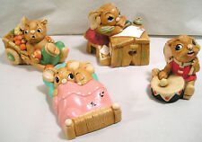 4 Pendefin Bunny Figurine, Drummer Bongo, School Desk Boswell, Twins, Barrow Boy