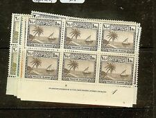 MALDIVE ISLANDS   (P2605B) BOAT  SG21-9 IMPRINT BL OF 6,  5  MNH