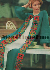 Vintage Crochet Pattern Lady's Coat/Kaftan/Long Cardigan