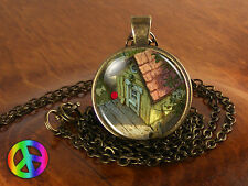Winnie the Pooh Owl's Tree House Handmade Necklace Pendant Jewelry Gift