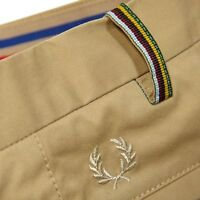 FRED PERRY BRADLEY WIGGINS CHINO TROUSERS 28R W28 L32 BNWT