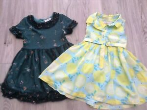 (W4) M&S NEXT GIRLS SMALL  BUNDLE OF PRETTY SUMMER FLORAL DRESSES AGE 18-24MTHS