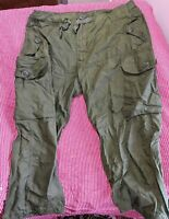 CANADIAN ARMY COMBAT WIND PANTS - SIZE 73-30 TALL SMALL - OUTER LAYER  -