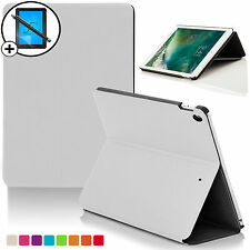 White Clam Shell Smart Case Cover for Apple iPad 9.7 2017 A1822 Scrn Prot Stylus