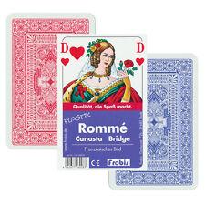 2 Plastik Romme Bridge Canasta Kartenspiele Französisches Bild, Frobis Spiele