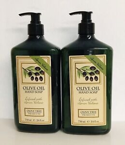 2 Bottles Lemon & Verbena Moisturizing Hand Soap with Olive Oil 24 fl oz Each