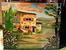 Original-One of a Kind-Oil on Canvas--Rustic Tuscany- Signed-COA-Listed Art