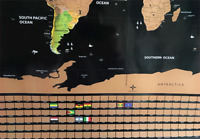 Giant Map of The World Deluxe Scratch Off World Map Poster Gift for Kids Friends