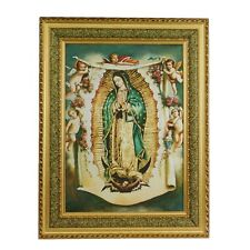 Virgen De Guadalupe / Virgin Mary Angeles 27x35 5070D Cushioned Frame CUADRO