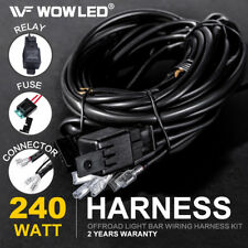 LED Driving Work Light Bar Wiring Loom Control 2 Lights Relay Fuse Kit 12V