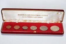 1966 Australian decimal coins set IN  CUSTOM RED CASE (E191212/E3)