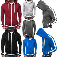 Mens Cool Hooded Cardigan Casual Zipper Hoodie Sweatshirt Fashion Tops Outwear B