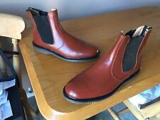 Vintage Dr Martens 2976 brown chelsea dealer boots UK 7 EU 41 mod ska England