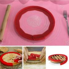 Adjustable Pie Crust Shield Reusable Silicone Prevents Burning Spills Tools LH