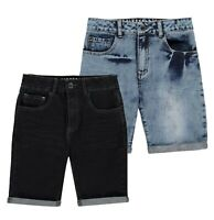 Boys Firetrap Casual Denim Comfortable Stitched Shorts Sizes from 7 to 13